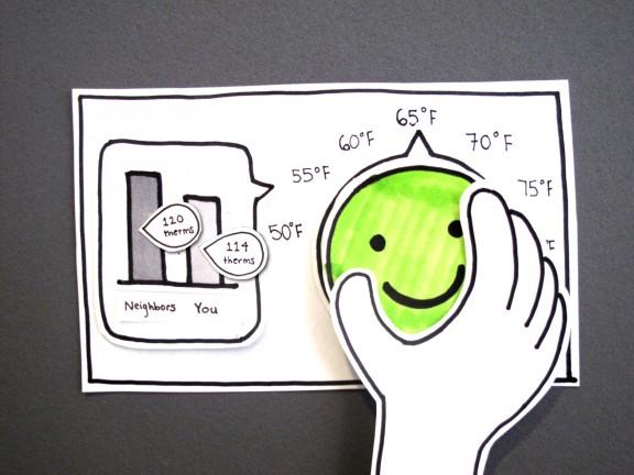 HappyStat paper prototype